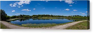 Ollies Pond In Port Charlotte, Florida Canvas Print by Panoramic Images