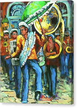 Olympia Brass Band Canvas Print by Dianne Parks