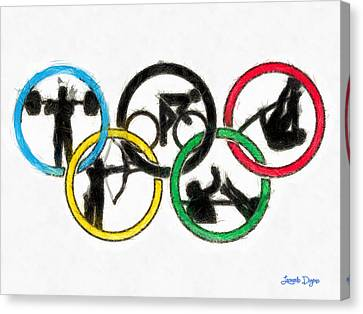 Olympic Games Symbol - Da Canvas Print by Leonardo Digenio
