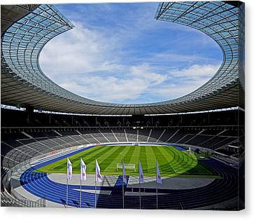 Olympic Stadium Berlin Canvas Print by Juergen Weiss