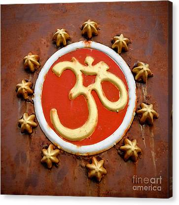 Om Canvas Print by Dev Gogoi