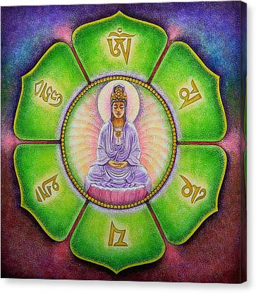 Om Mani Padme Hum Kuan Yin Canvas Print by Sue Halstenberg