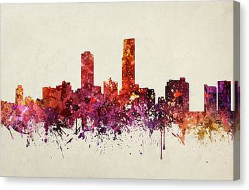Omaha Cityscape 09 Canvas Print by Aged Pixel
