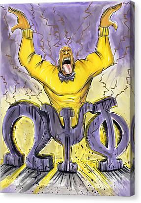 Omega Psi Phi Fraternity Inc Canvas Print by Tu-Kwon Thomas