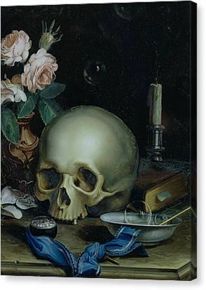 Omnia Vanitas Canvas Print by Dutch School