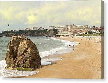 On A Hot Summer Day On A Sandy Beach Canvas Print by George Westermak