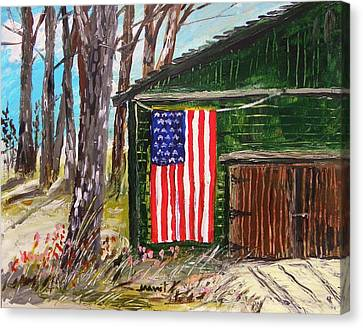 On A Veteran's Barn Canvas Print by John Williams