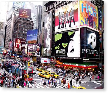 On Broadway New York Canvas Print by Rosie Brown