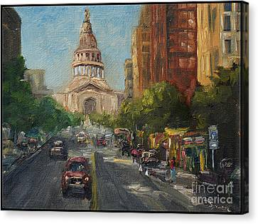 On Congress Canvas Print by Lisa  Spencer
