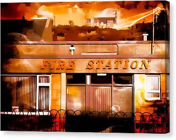 On Fire Canvas Print by Tom Gowanlock