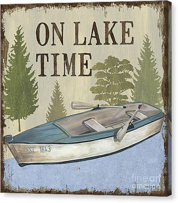On Lake Time Canvas Print by Debbie DeWitt