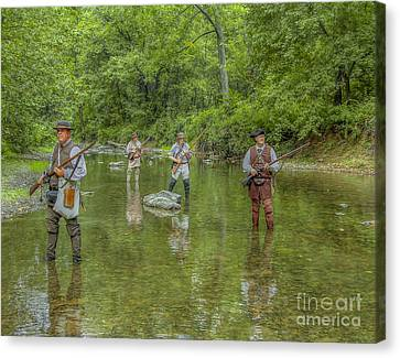 On Patrol With Wulff's Rangers Junita Crossing Canvas Print by Randy Steele