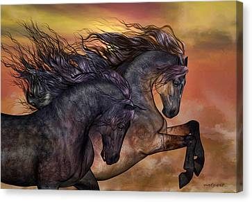 On Sugar Mountain Canvas Print by Valerie Anne Kelly