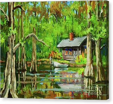 On The Bayou Canvas Print by Dianne Parks