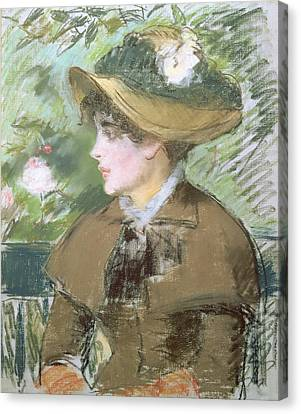On The Bench Canvas Print by Edouard Manet