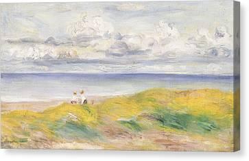 On The Cliffs Canvas Print by Pierre Auguste Renoir