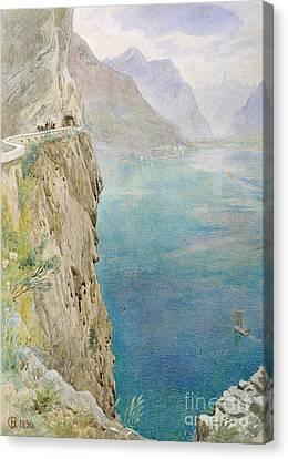 On The Italian Coast Canvas Print by Harry Goodwin