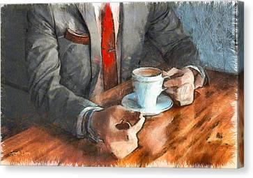 On  The Money - Pa Canvas Print by Leonardo Digenio