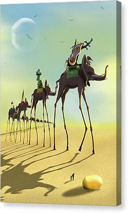 On The Move 2 Canvas Print by Mike McGlothlen