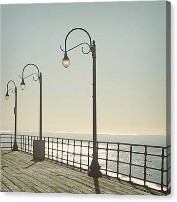 On The Pier Canvas Print by Linda Woods