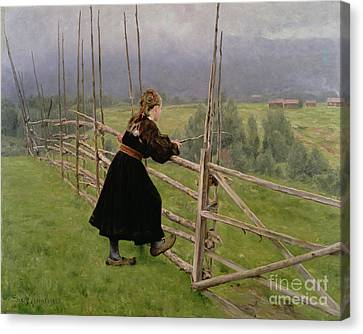 On The Plain Canvas Print by Karl Fredrick Nordstrom