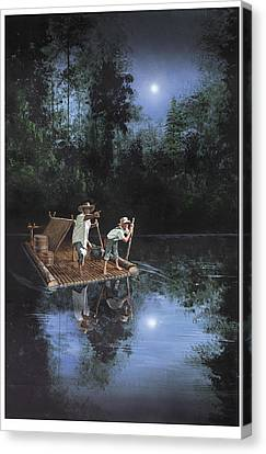 On The River Canvas Print by Harold Shull