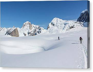 On The Ruth Glacier Canvas Print by Tim Grams