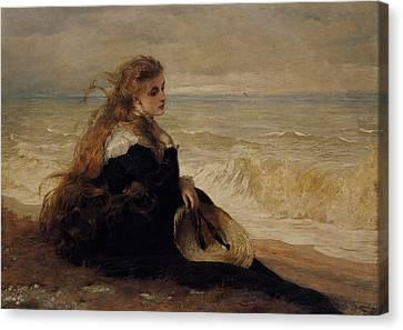 On The Seashore Canvas Print by George Elgar Hicks
