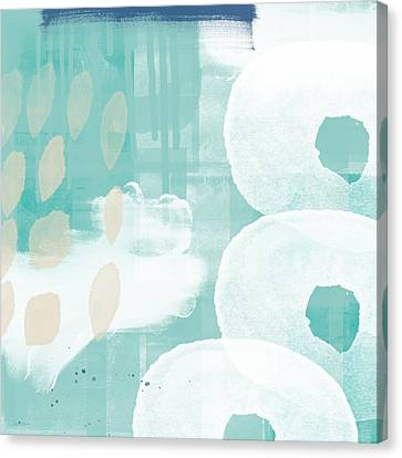 On The Shore- Abstract Painting Canvas Print by Linda Woods