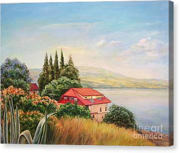 On The Shore Of The Kinneret Canvas Print by Maya Bukhina