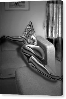 On The Sofa Canvas Print by Emada Photos