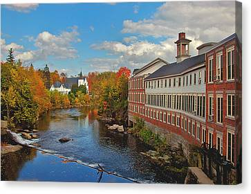 On The Souhegan Canvas Print by Joann Vitali