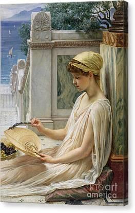 On The Terrace Canvas Print by Sir Edward John Poynter