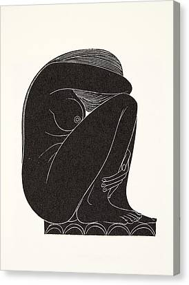 On The Tiles Canvas Print by Eric Gill