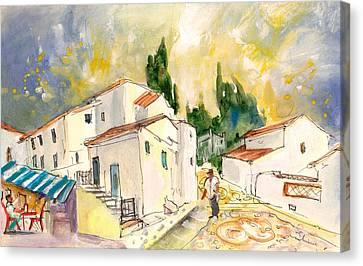On The Way Up To Frigiliana Canvas Print by Miki De Goodaboom