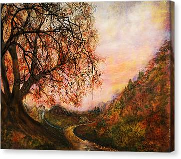 Once Upon October Canvas Print by Patricia Motley