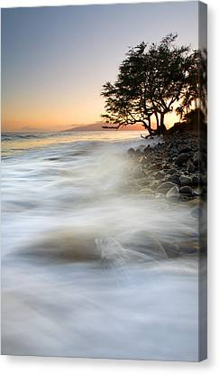 One Against The Tides Canvas Print by Mike  Dawson