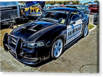 One Bad Ass Squad Car Canvas Print by Tommy Anderson