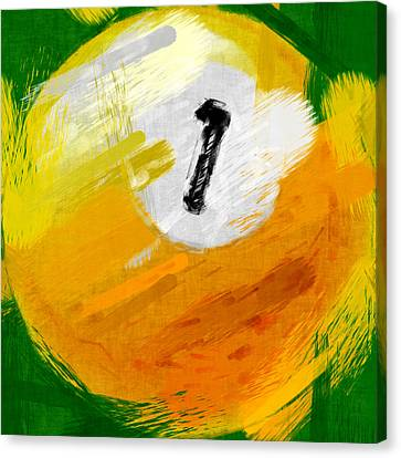 One Ball Abstract Canvas Print by David G Paul