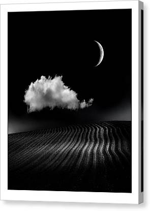 One Cloud Canvas Print by Mal Bray