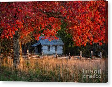 One Room School Canvas Print by Anthony Heflin