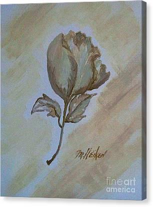 One Rose Canvas Print by Marsha Heiken