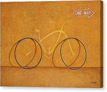 One Way Canvas Print by Horacio Cardozo