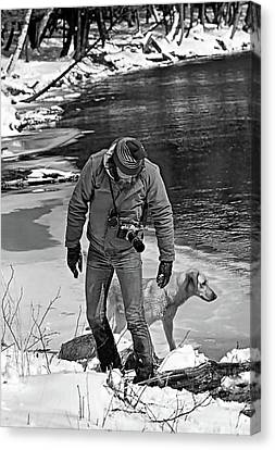 One With Nature Bw Canvas Print by Steve Harrington