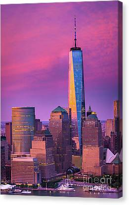 One World Trade Center Sunset Canvas Print by Inge Johnsson