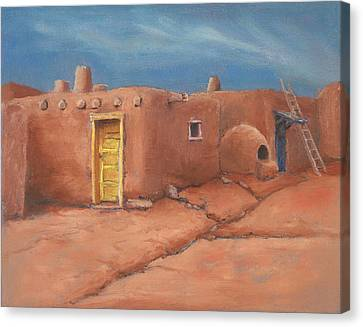 One Yellow Door Canvas Print by Jerry McElroy