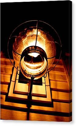 Onion Lamp At Night Canvas Print by Robert Morin