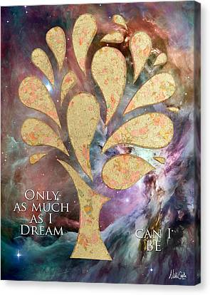 Only As Much As I Dream Can I Be Canvas Print by Nikki Smith