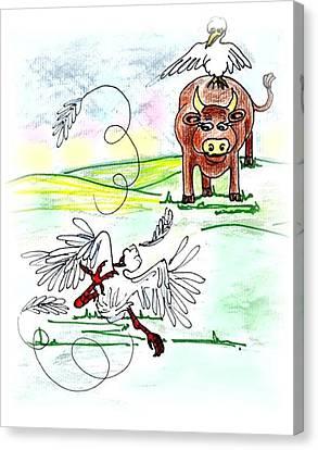 Oopsi Daisy Canvas Print by Carol Allen Anfinsen