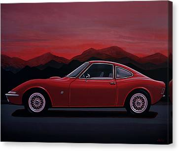 Opel Gt 1969 Painting Canvas Print by Paul Meijering